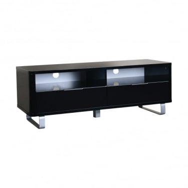 LPD Furniture Accent Black High Gloss TV Unit