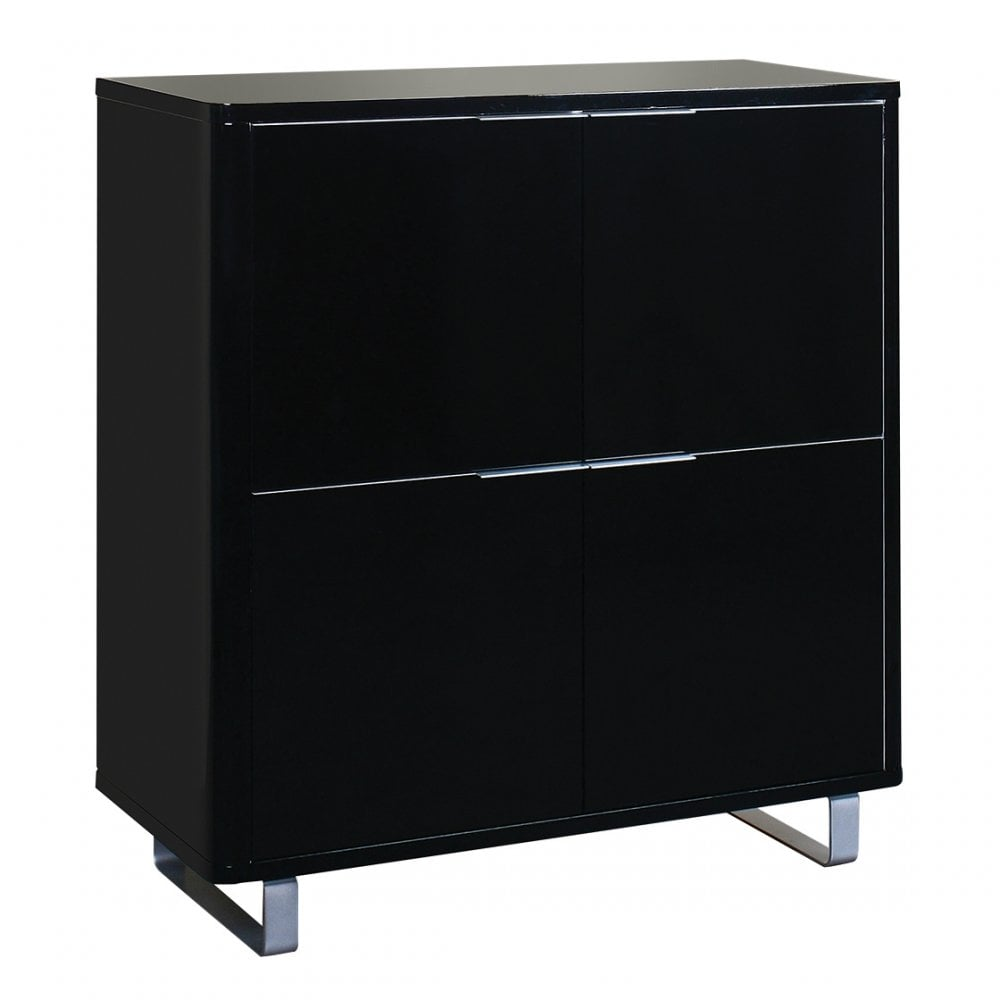 Lpd Furniture Accent High Gloss Black 4 Drawer Storage
