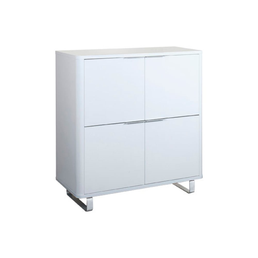 Accent High Gloss White 4 Drawer Storage Unit  sc 1 st  Leader Stores & LPD Furniture Accent White Storage Unit | Leader Stores