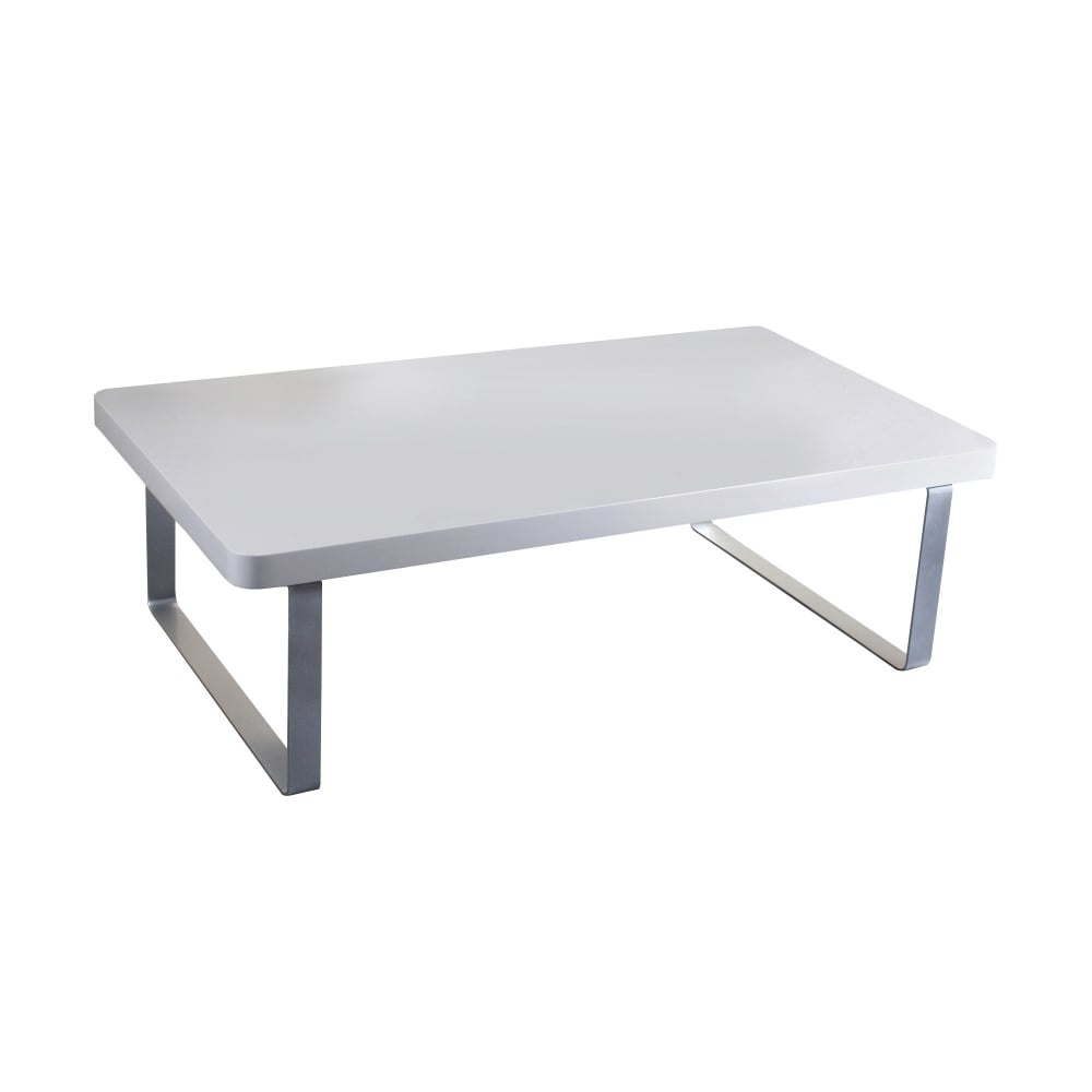 Coffee Table High Gloss White: LPD Furniture Accent White Coffee Table
