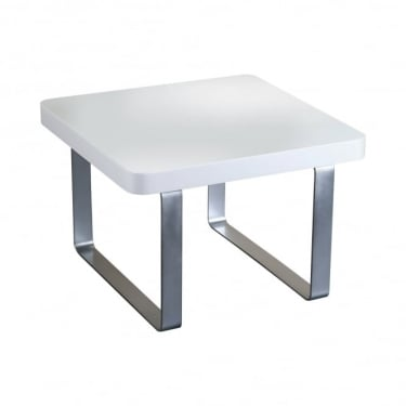 LPD Furniture Accent White High Gloss End/Lamp Table