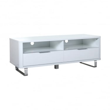 LPD Furniture Accent White High Gloss TV Unit