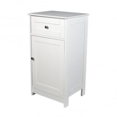 LPD Furniture Alaska White 1 Drawer 1 Door Storage Unit (ALASKALOW)