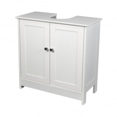 LPD Furniture Alaska White 2 Door Vanity Sink Unit (ALASKAVANITY)