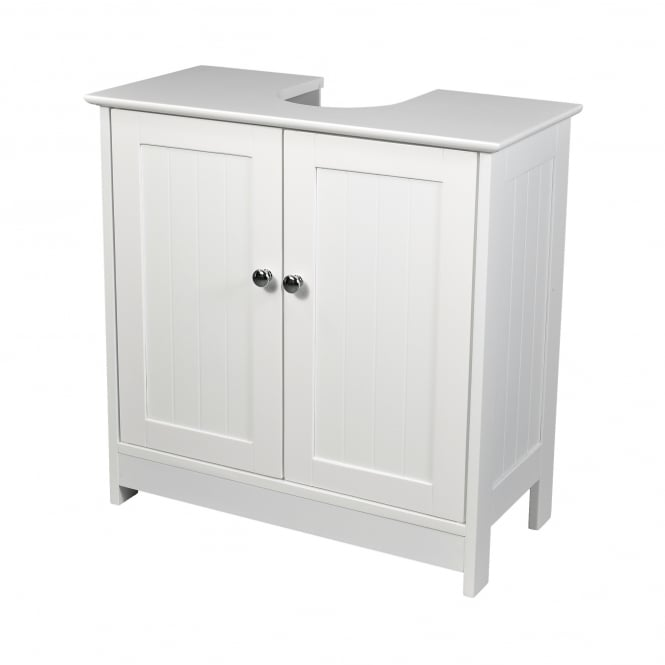 LPD Furniture Alaska White 2 Door Vanity Unit
