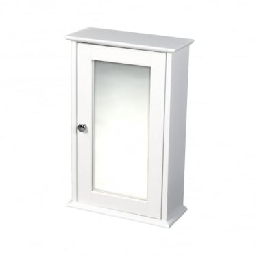 LPD Furniture Alaska White Mirrored Wall Cabinet
