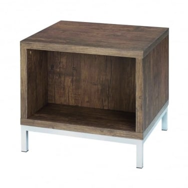 LPD Furniture Amari Foiled Woodgrain End/Lamp Table