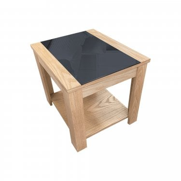 LPD Furniture Ashleigh Ash & Black End Table
