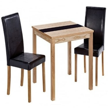 LPD Furniture Ashleigh Ash & Black Small Dining Set