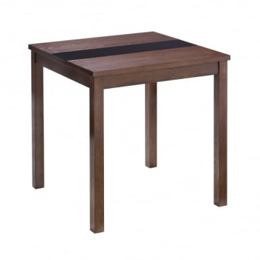 LPD Furniture Ashleigh Walnut & Black Small Dining Table