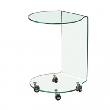 LPD Furniture Azurro Glass Lamp Table