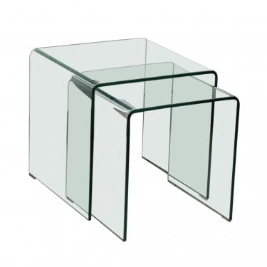 LPD Furniture Azurro Glass Nest of Tables (AZURNEST)