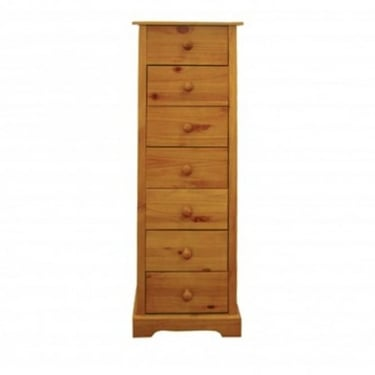 LPD Furniture Baltic Antique Pine 7 Drawer Chest (BALT7DR)