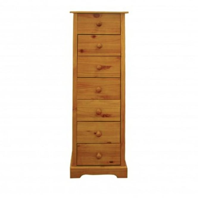LPD Furniture Baltic Antique Pine 7 Drawer Chest