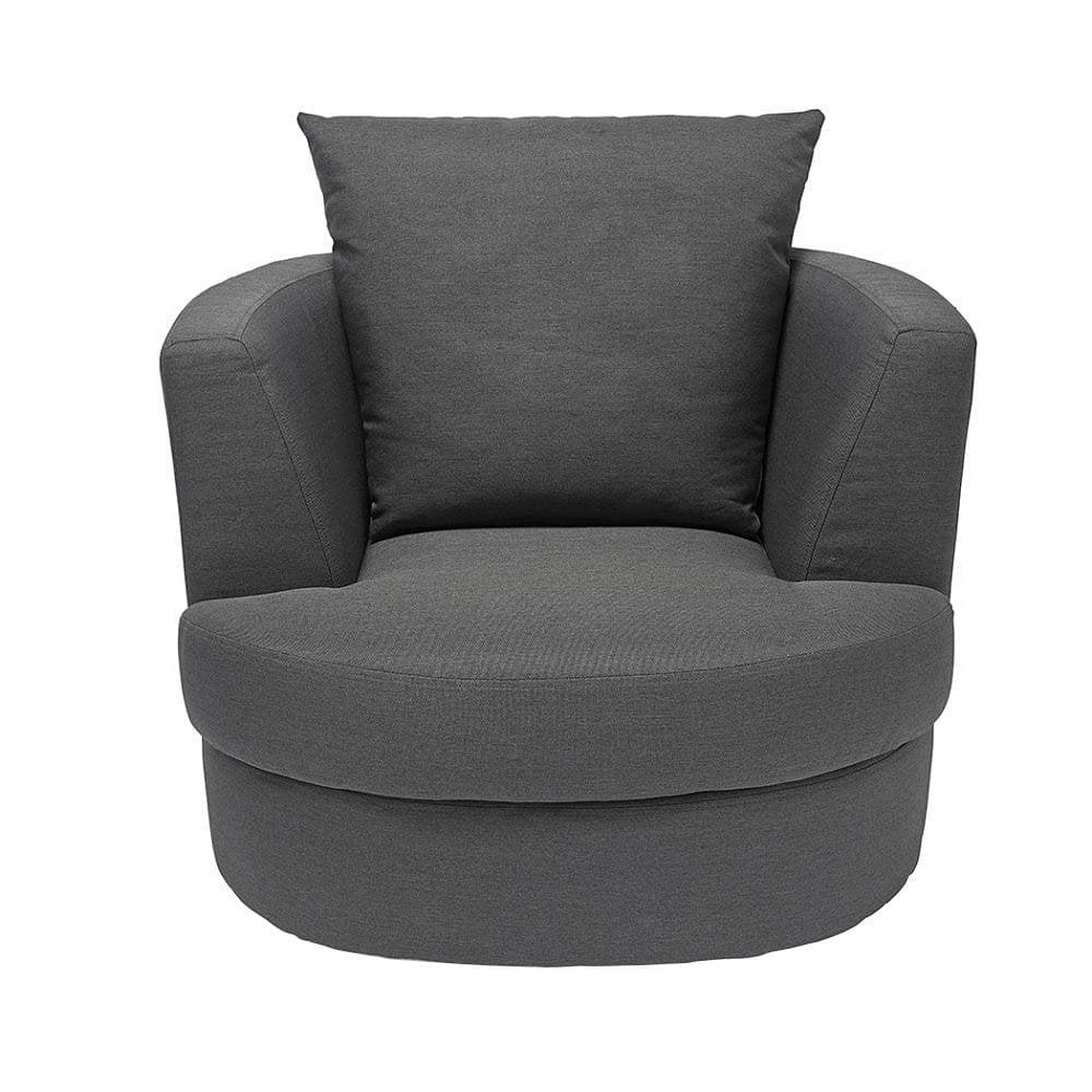 Bliss Grey Small Swivel Chair