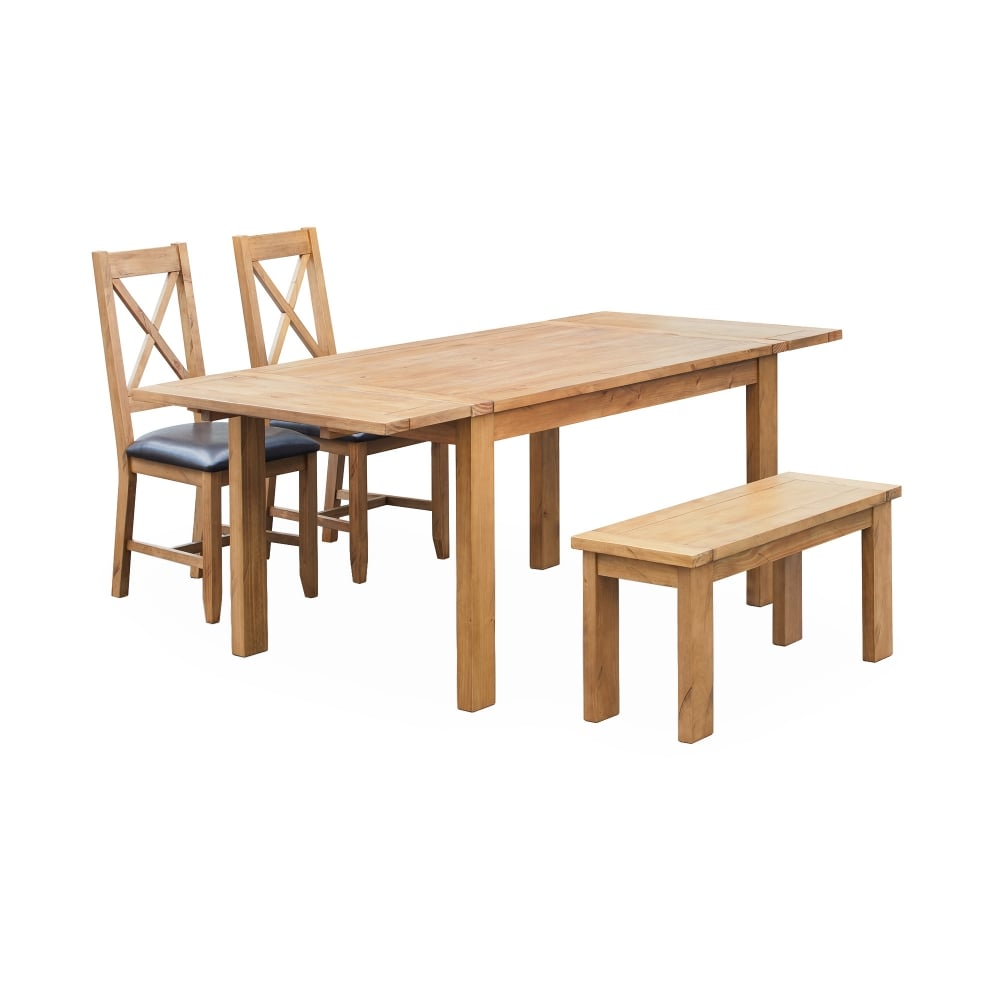 Lpd Furniture Boden Pine Extending Dining Table Leader Stores