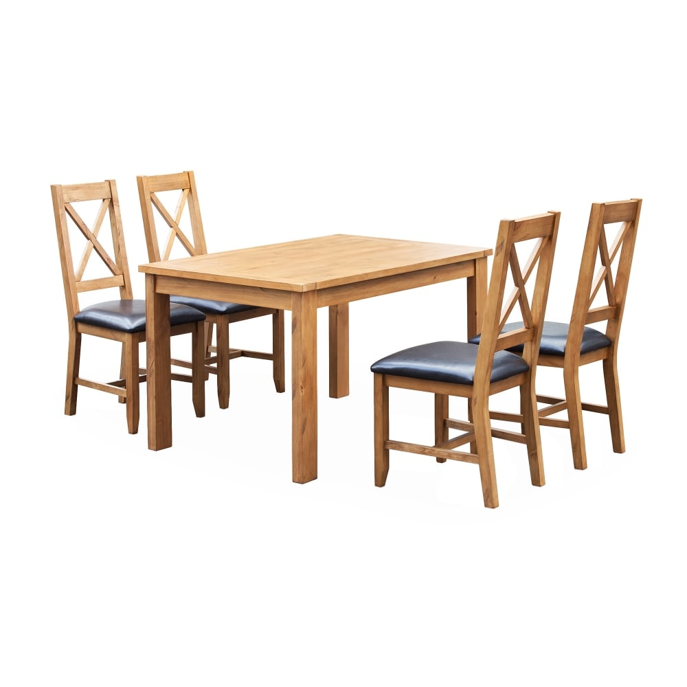 Lpd Furniture Boden Pine Fixed Top Dining Table Leader Stores