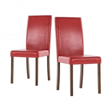 LPD Furniture Brompton Red Dining Chair (Pair)