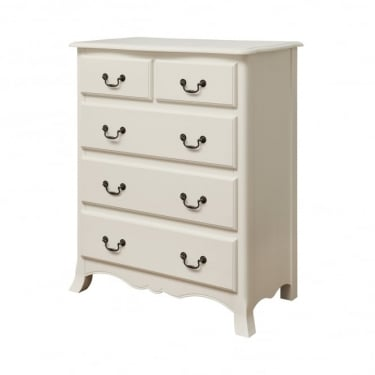 LPD Furniture Chantilly Antique Off White 3+2 Drawer Chest (CHANT3+2)