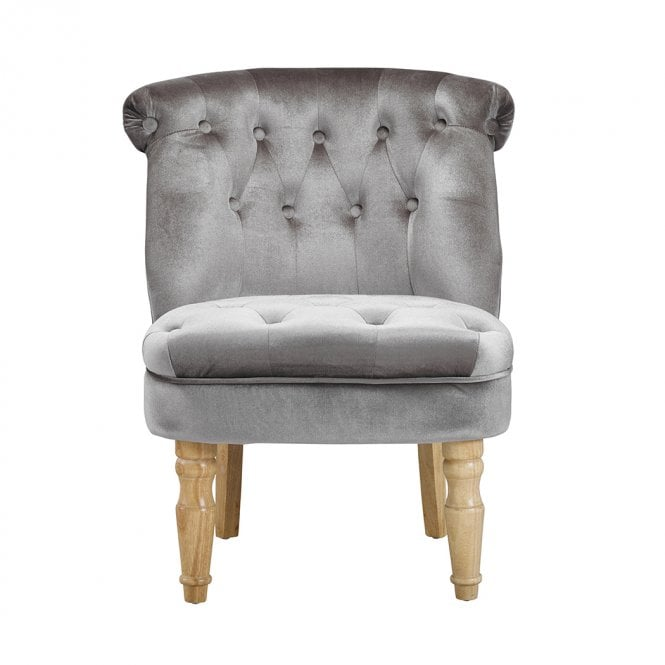 LPD Furniture Charlotte Silver Occasional Chair