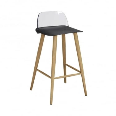 LPD Furniture Chelsea Black Bar Stool (Pair)