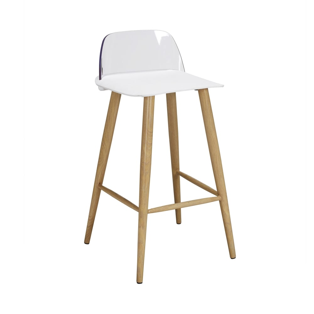 Lpd Furniture Chelsea White Bar Stool Pair Leader Stores