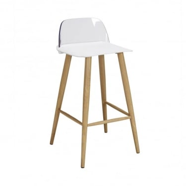 LPD Furniture Chelsea White Bar Stool (Pair)