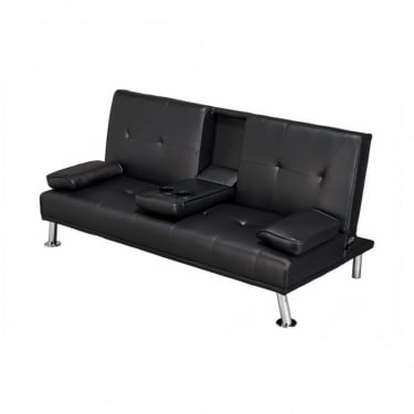 LPD Furniture Cinema Black Sofa Bed
