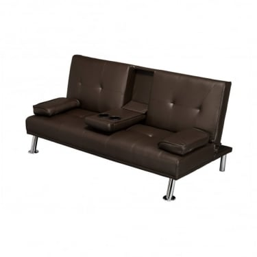 LPD Furniture Cinema Brown Sofa Bed
