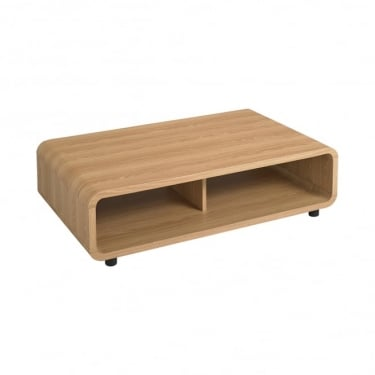 LPD Furniture Curve Oak Coffee Table (CURVECOF)