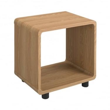 LPD Furniture Curve Oak Lamp Table