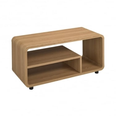 LPD Furniture Curve Oak TV Unit (CURVETV)