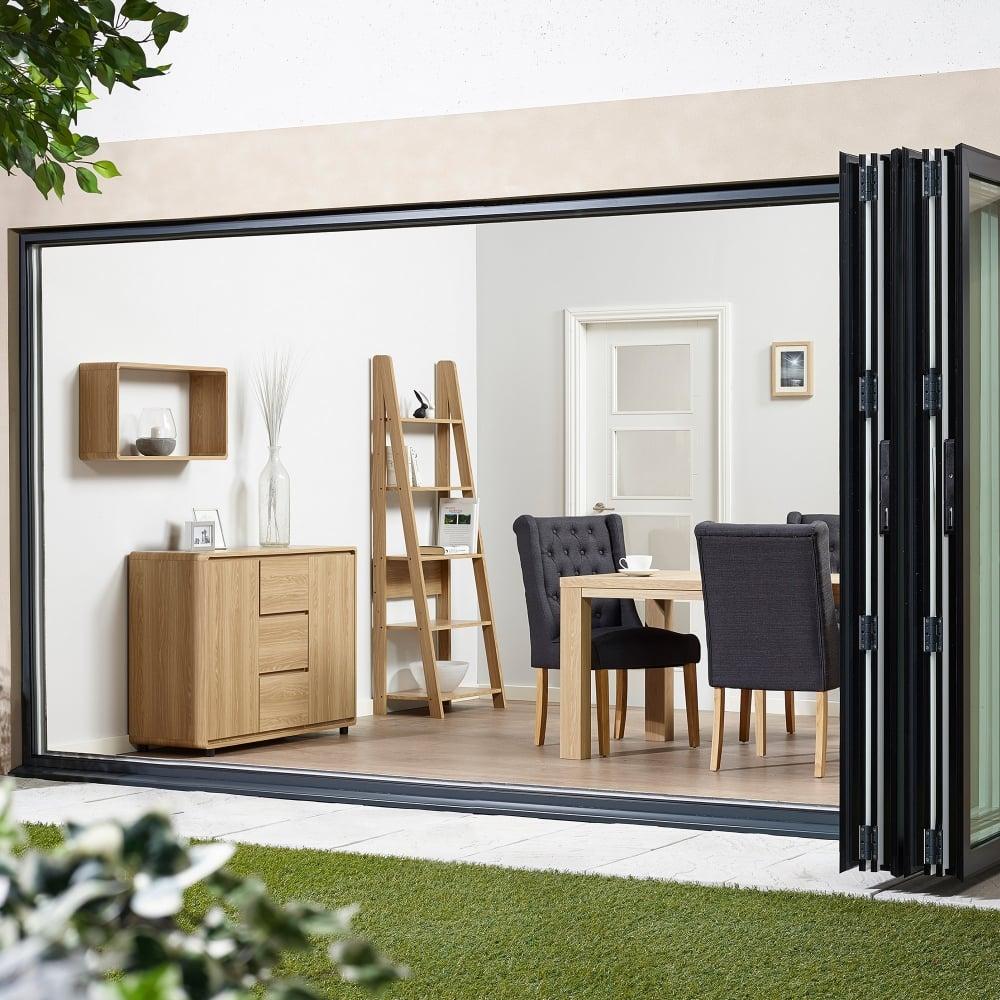 Lpd Furniture Curve Oak Wall Display Shelf Leader Stores