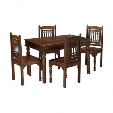 LPD Furniture Darjeeling Sheesham Medium Dining Set