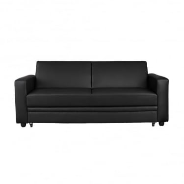 LPD Furniture Detroit Black Storage Sofa Bed