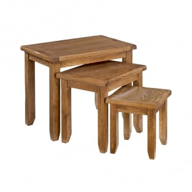 LPD Furniture Dorset Rustic Nest of Tables 3-Pack (DORSNEST)