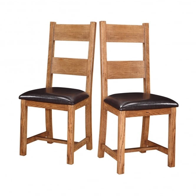 Lpd Furniture Dorset White Oak Brown Dining Chair Box Of 2 Leader Stores