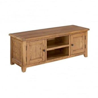 LPD Furniture Dorset White Oak TV Unit
