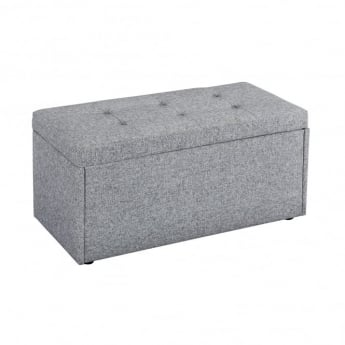 LPD Furniture Hartford Grey Fabric Ottoman