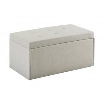 LPD Furniture Hartford Neutral Fabric Ottoman