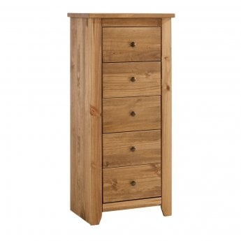 LPD Furniture Havana Pine 5 Drawer Chest