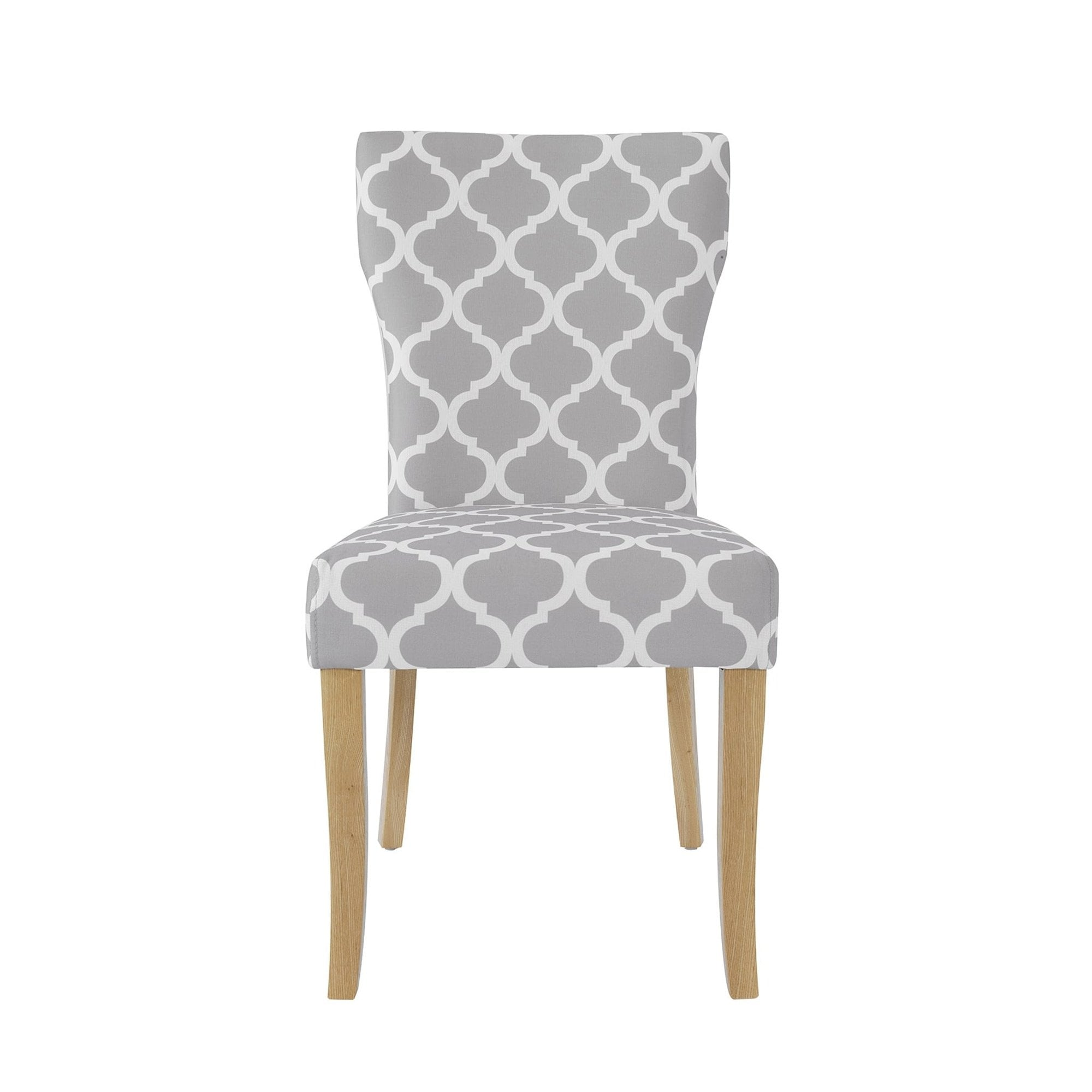 LPD Furniture Hugo Grey Fabric Dining Chair Pair