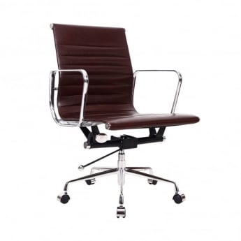 LPD Furniture Ikon Brown Faux Leather Office Chair