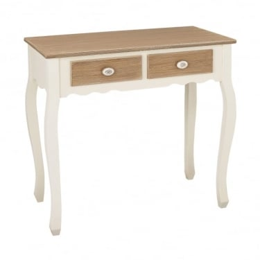 LPD Furniture Juliette Soft White 2 Drawer Console Table (JULIETCONS)
