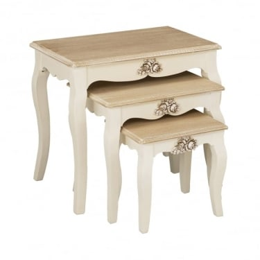 LPD Furniture Juliette Soft White Nest of Tables 3-Pack (JULIETNEST)