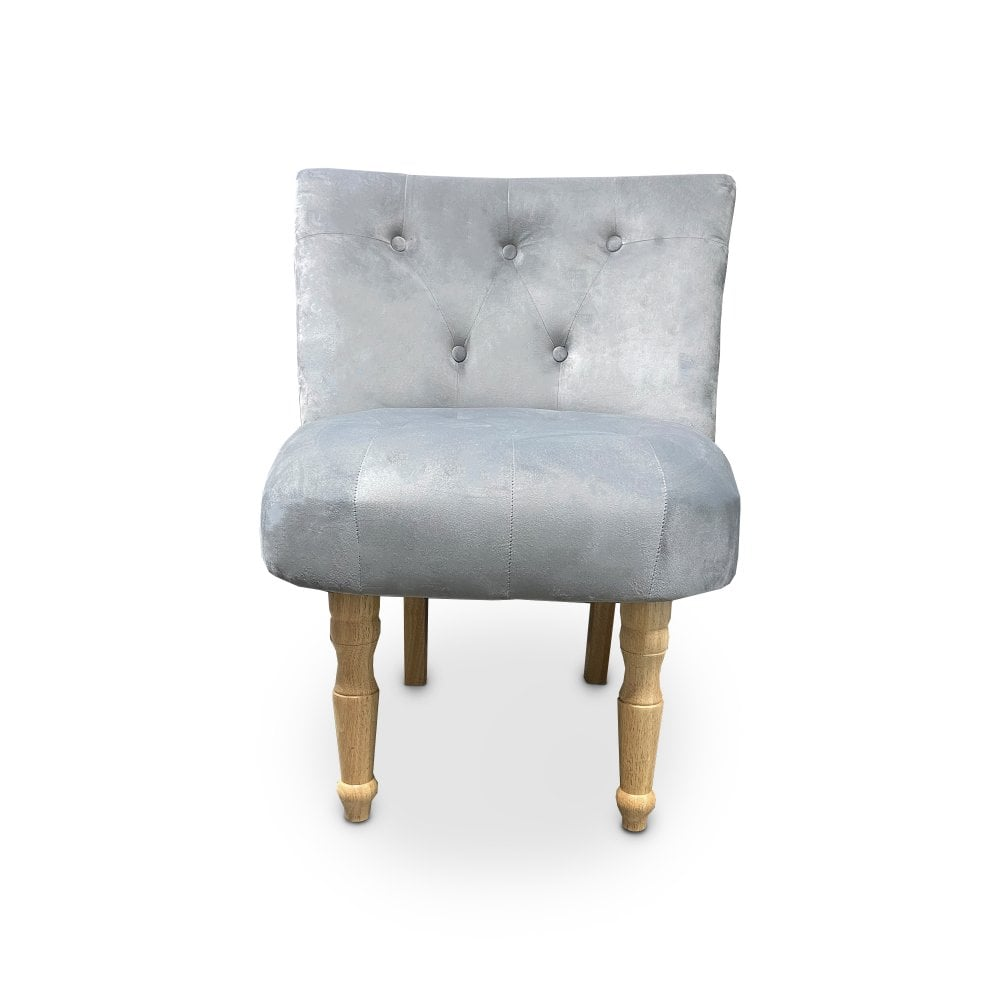 Delicieux Lydia Silver Occasional Chair Pair