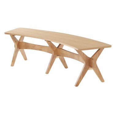 LPD Furniture Malmo Oak Dining Bench