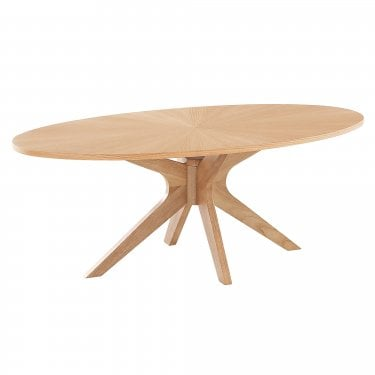 LPD Furniture Malmo White Oak Coffee Table (MALMOCOF)