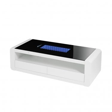 LPD Furniture Matrix White Coffee Table (MATRIXCOF)