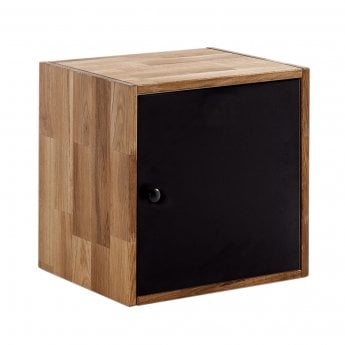 LPD Furniture Maximo Oak Single Display Cube With Door